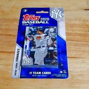 2020 Topps Yankees 17 card team set-factory sealed